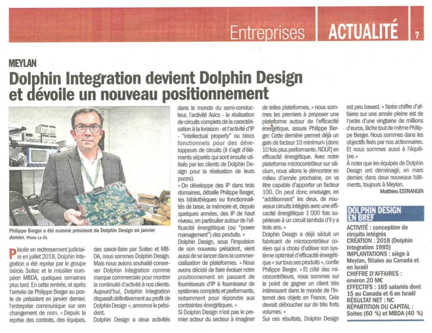 DL Entreprises article